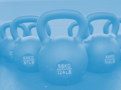 Kettlebells - blue new
