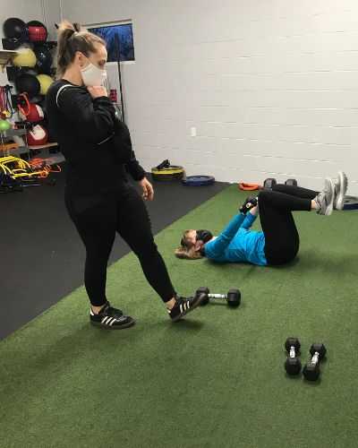 Trainer doing 1:1 coaching at Helix Training - New